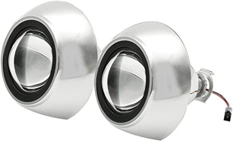 Nrpfell LHD 2 St/üCke 2,5 Zoll Bi Xenon H1 HID Scheinwerfer Projektor Linse Halo Ring Hi//Lo