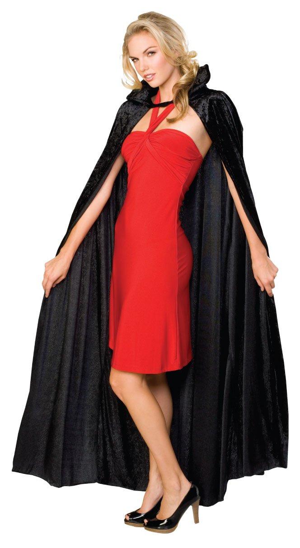 Rubie's Offizielles Halloween lange Crushed Samt Umhang, Erwachsenen Kostüm–EINE Größe Rubie's 16207
