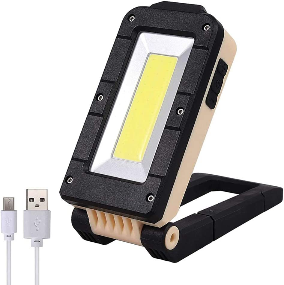 Rechargeable Magnetic COB LED Work Light Lamp Folding Inspection Torch