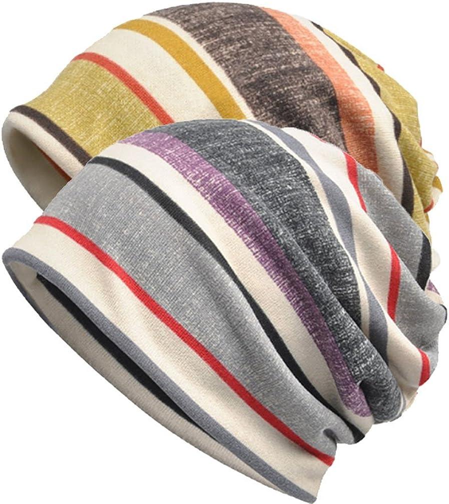 Frauen Chemo Hut Stripe Lace Beanie Hut Baumwolle Soft Turban Headwear Head Wraps