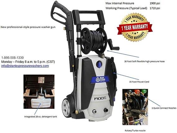 Amazon.com: Ar Balizas Azul Clean 1800 PSI Electric ...