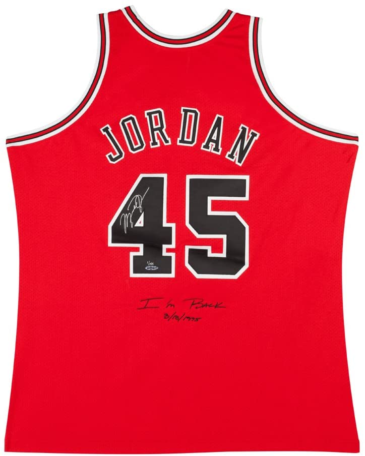 MICHAEL JORDAN 1995 CHICAGO BULLS #45 I'M BACK 3/8/1995