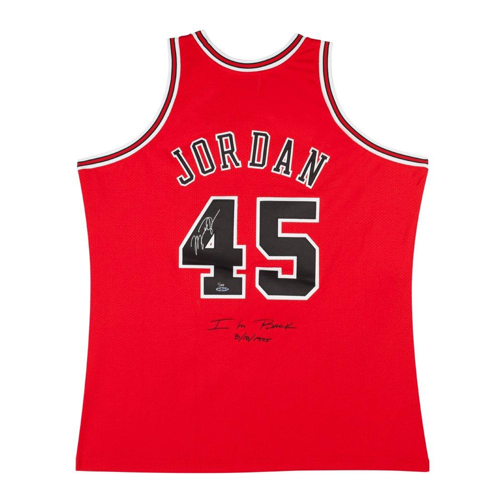 the best attitude 4912b c57ec MICHAEL JORDAN 1995 CHICAGO BULLS #45 I'M BACK 3/8/1995 ...