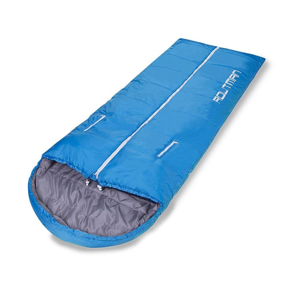 中空綿Sleepingバッグ秋と冬シーズンアウトドアキャンプKeep Warm機器1.35 kg-2.4kg、ブルー、1.35 KG B076ZF9JNL