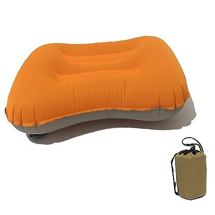 Amazon.com: Almohada para acampar y dormir cómoda, inflable ...