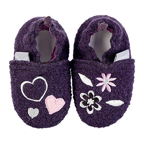 Sterntaler Baby Mädchen Sterntaler-5301752 Krabbel-& Hausschuhe Violett (Traube 781)