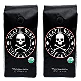 Death Wish Whole Bean Coffee Bundle Deal, The World's Strongest Coffee, Fair Trade and USDA Certified Organic – 1 LB(16 oz) – (Pack of 2) Review