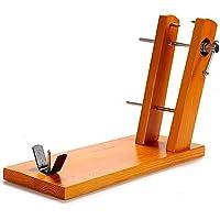TU TENDENCIA UNICA Jamonero de madera doble con dos brazos que añaden estabilidad al agarre ajustable