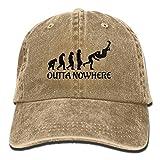 Qevenon-08 Men's/Women's Wrestling Outta No Where Cotton Denim Baseball Cap Adjustable Hip Hop Caps