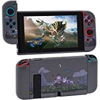 AIORVP Case for Switch with Monster Hunter Rise,Hard Case Cover for Nintendo Switch Console and Joy-Con Controller