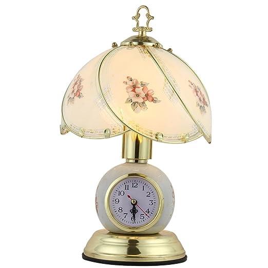 Amazon.com: gzd Mute reloj lámpara de mesa lámpara de mesa ...