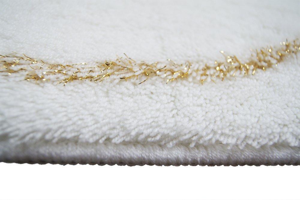 Luxus Glitzer Gold Badteppich Deko Teppich Rutschfeste Handtuft