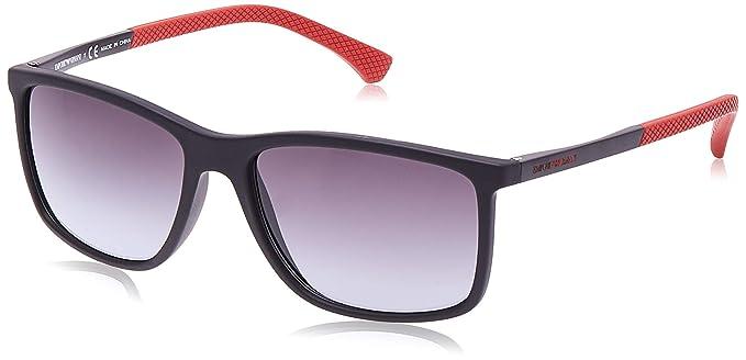 Emporio Armani 0ea4058 56498g 58 Gafas de sol, Black Rubber ...