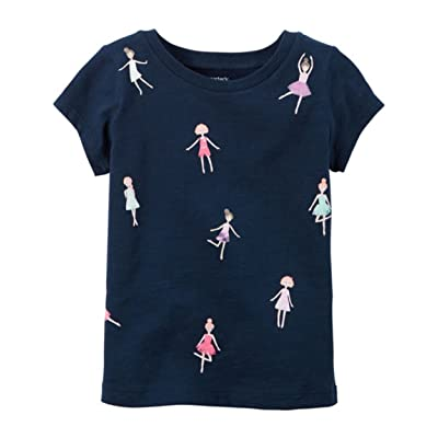 Carter's Girl's Navy S/S Doll Graphic Tee (6 Months)