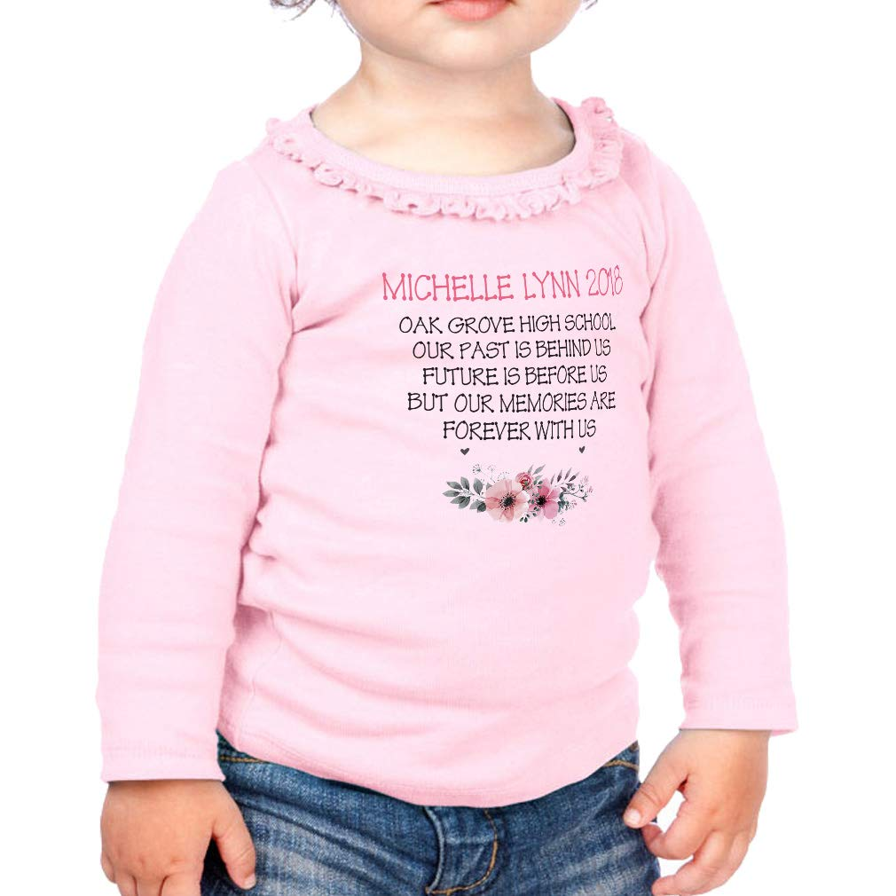 Custom Past is Behind Memories Cotton Toddler Long Sleeve Ruffle Shirt Top