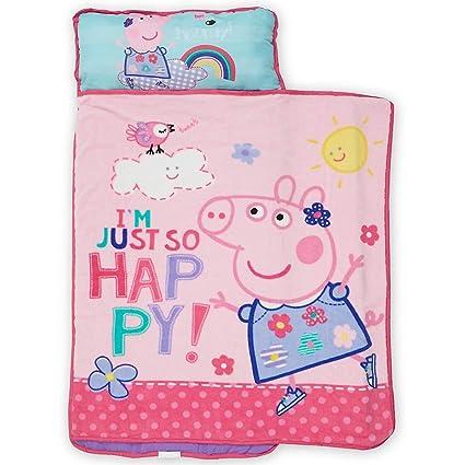 Peppa Pig - Alfombrilla para niños con Manta