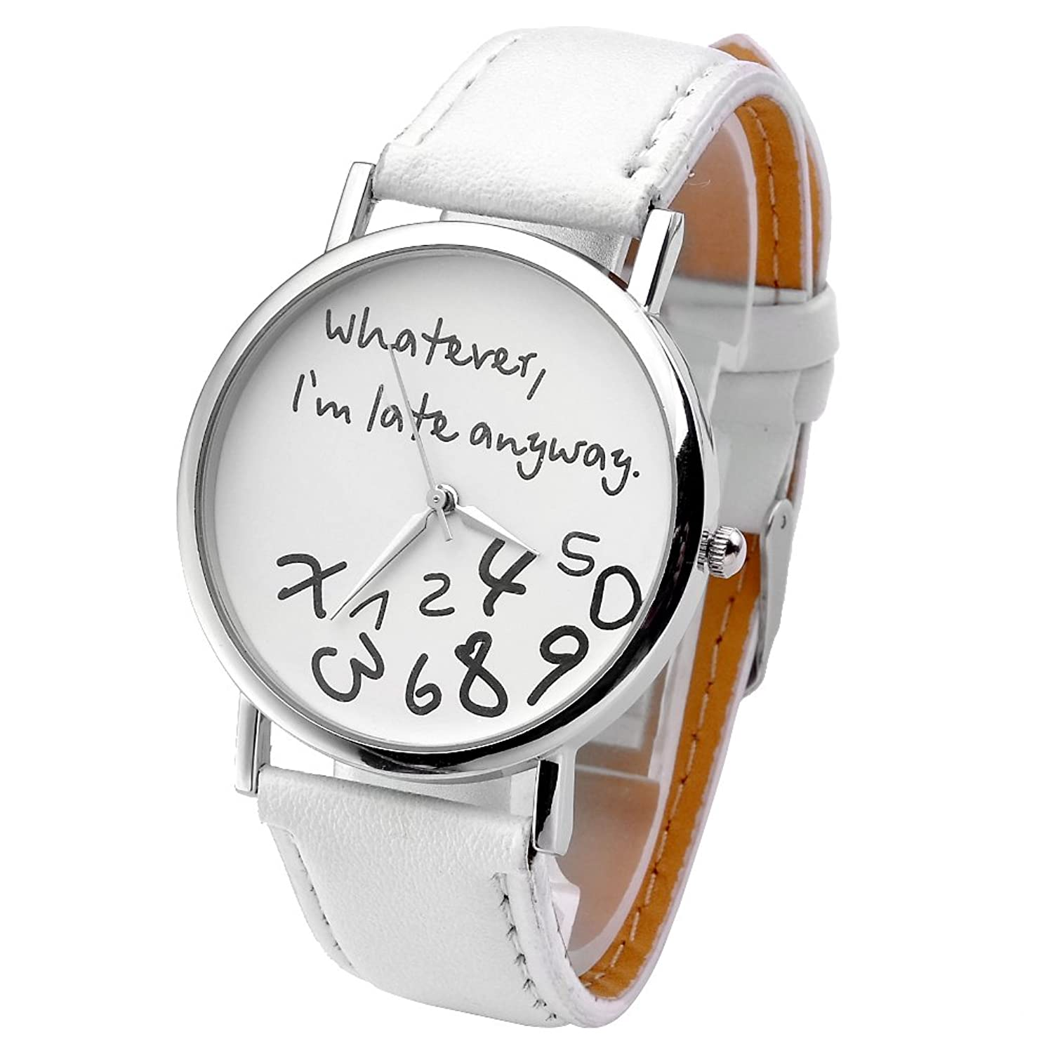 abbastanza JSDDE Orologi , Vintage donna moda'What ever, I 'm late Anyway  DL88