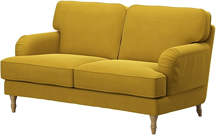 Soferia Replacement Cover for IKEA STOCKSUND 2-seat sofa, fabric Elegance  Dark Yellow: Amazon.co.uk: Kitchen & Home