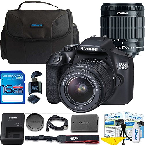 Canon EOS 1300D / T6 EF-S 18-55mm 18.7MP CMOS 5184 x 3456 Pi