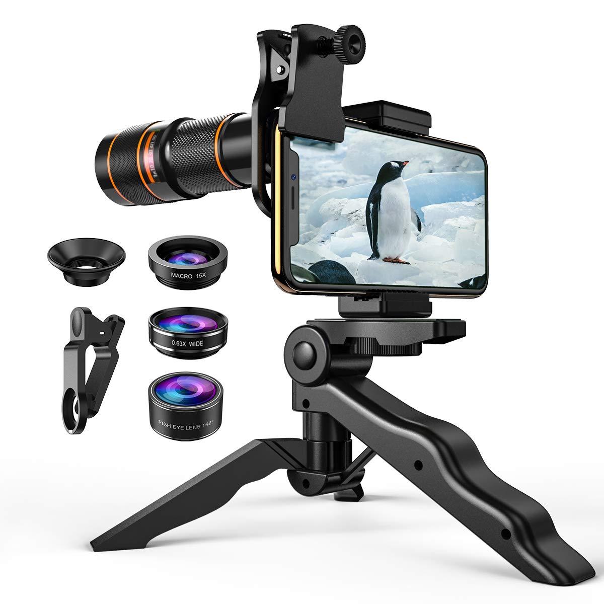 4bc0cb1921514c Criacr Phone Camera Lens, 4 in 1 Cell Phone Lens Kit for iPhone X Lenses