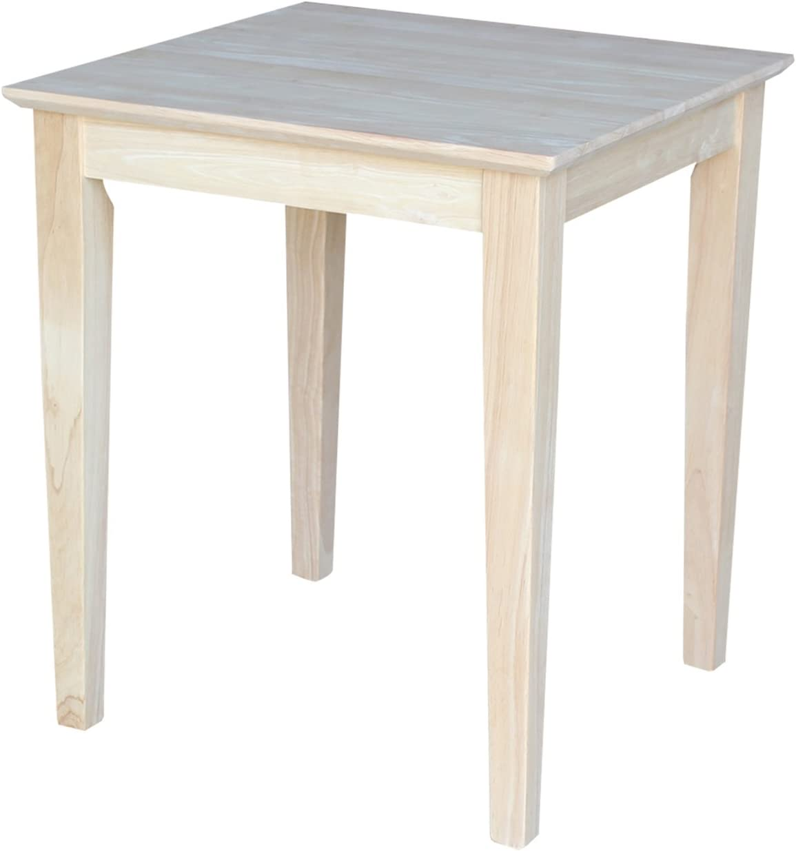 International Concepts Tall Shaker End Table, Unfinished