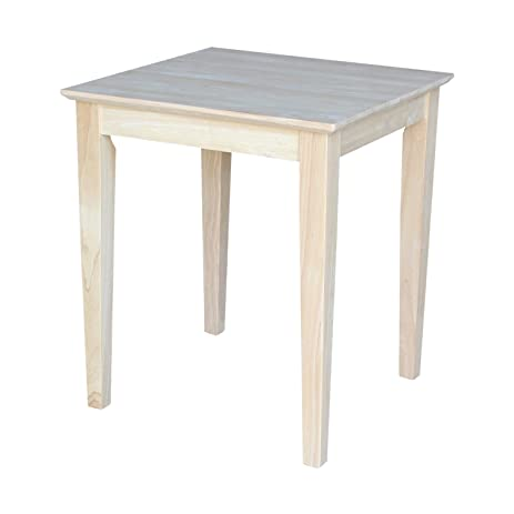 Superior International Concepts OT 9TE Tall Shaker End Table, Unfinished