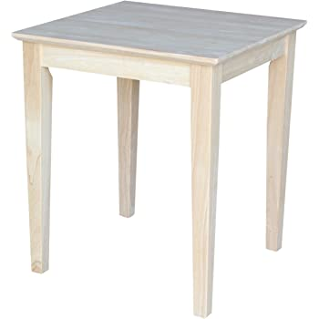 International Concepts OT 9TE Tall Shaker End Table, Unfinished