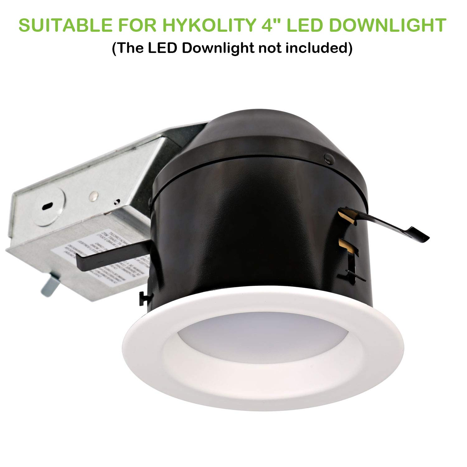 Hykolity 4 Inch Remodel Recessed Light Can Housing 12 Pack, Shallow Type Airtight IC Housing with TP24 Connector for LED Recessed Downlight Retrofit Kit,ETL Listed by hykolity (Image #3)