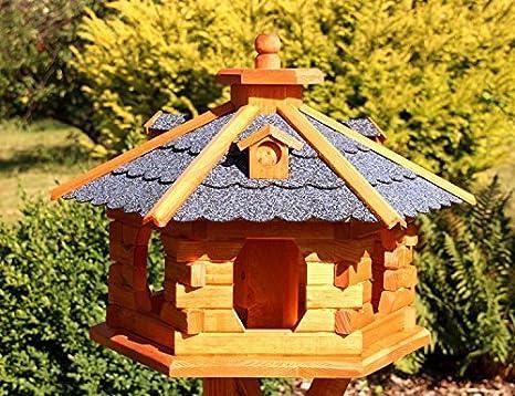 holzdekoladen Gro/ßes Vogelhaus aus Holz Typ 5 rot
