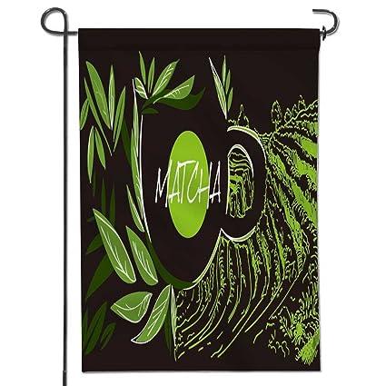 SCOCICI1588 Polyester Garden Flag Matcha Japanese Tea Ceremony Vector  Illustration Matcha Green Tea For Wedding Home