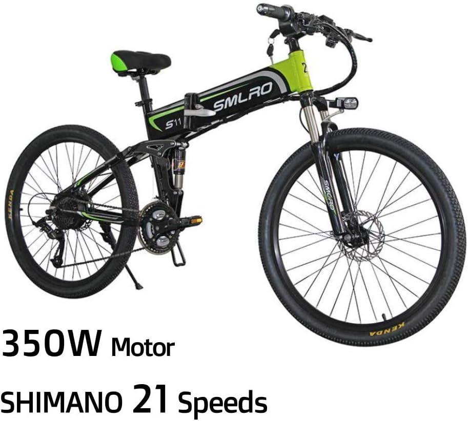 XXCY Bicicleta De Montaña Eléctrica, Bicicleta Eléctrica Plegable ...