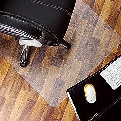 "Marvelux 36"" x 48"" Polycarbonate (PC) Rectangular Chair Mat for Hard Floors | Transparent | Multiple Sizes"