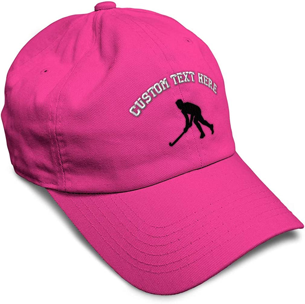 Custom Soft Baseball Cap Man Hockey Player A Embroidery Dad Hats for Men /& Women