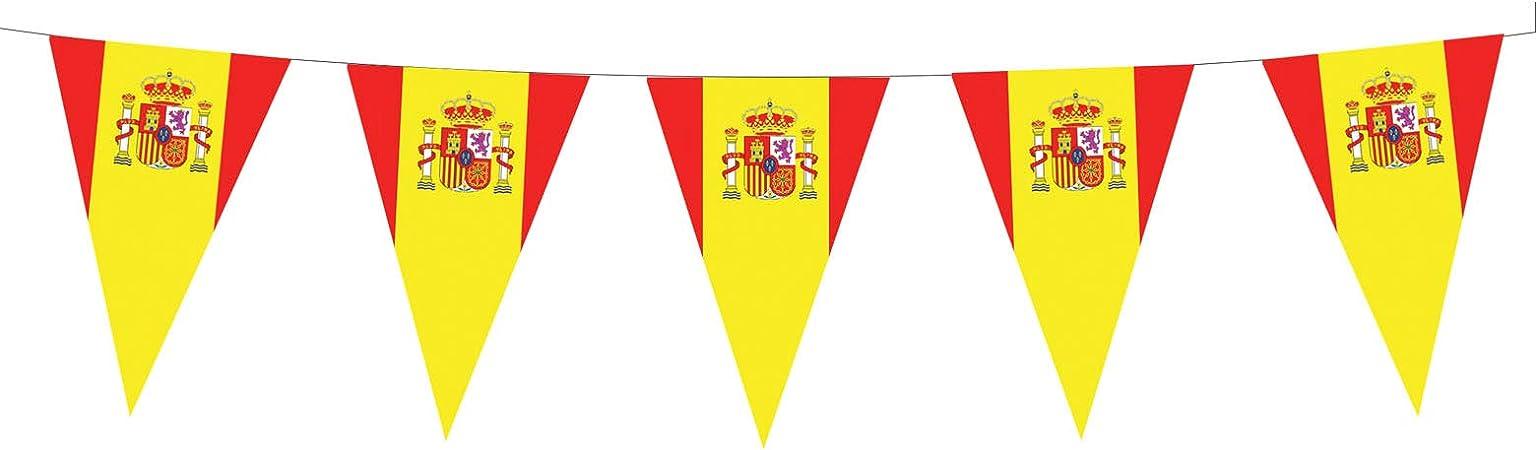 Guirnalda bandera española - Única: Amazon.es: Juguetes y juegos