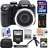 KODAK PIXPRO AZ401 Astro Zoom Digital Camera (Black) with 32GB Card + Batteries & Charger + Case + Flash + Tripod + Kit