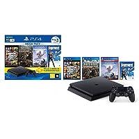 Console PlayStation 4 1TB Bundle Hits 6 - Horizon Zero Dawn Complete Edition, Days Gone, Grand Theft Auto V Premium…