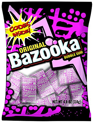 ORIGINAL Bazooka BUBBLE GUM, 4.0 OZ. -