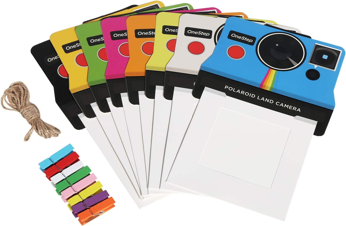 Zink Colorful Vintage Camera Photo Frames for 2x3 Zink Paper Compatible with Kodak, Lifeprint, Polaroid, HP, Canon, Fujifilm
