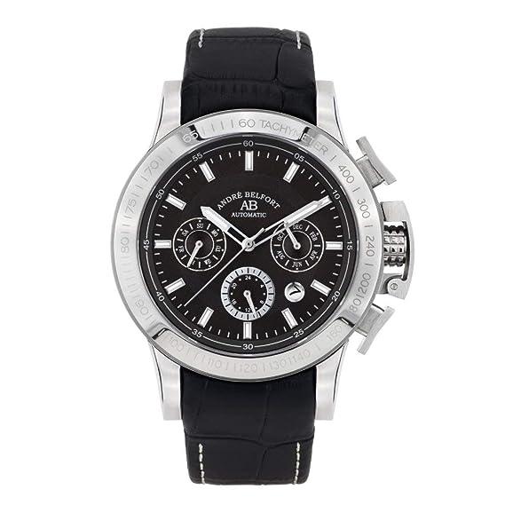 André Belfort Reloj Analógico para Hombre de Automático con Correa en Cuero 410315: Amazon.es: Relojes