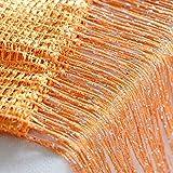 Norbi Vogue Tassel String Door Window Room Divider Partition Curtain Valance (Orange)