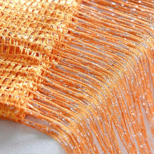 - Norbi Vogue Tassel String Door Window Room Divider Partition Curtain Valance (Orange)