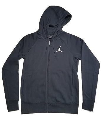 newest collection c95fa 2730e Amazon.com  Jordan Full Zip Jumpman Warm Up Hoodie Black Large  Clothing
