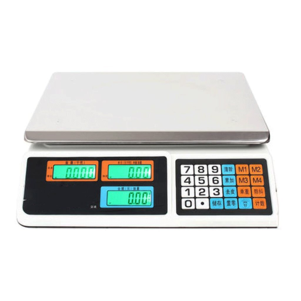 odefc Escalas electrónicas plataforma escala escala de escala dijo escala de cocina pesando gramos pesando 30 kg verduras y frutas kg dijo (Color : B) : ...