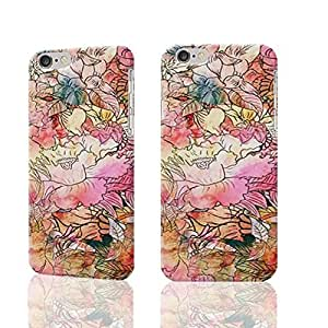 Colorful Watercolor Floral Pattern Abstract Sketch Photo Plastic Hard Customized Personalized 3D Case For iPhone 6 Plus - 5.5 inches by icecream design