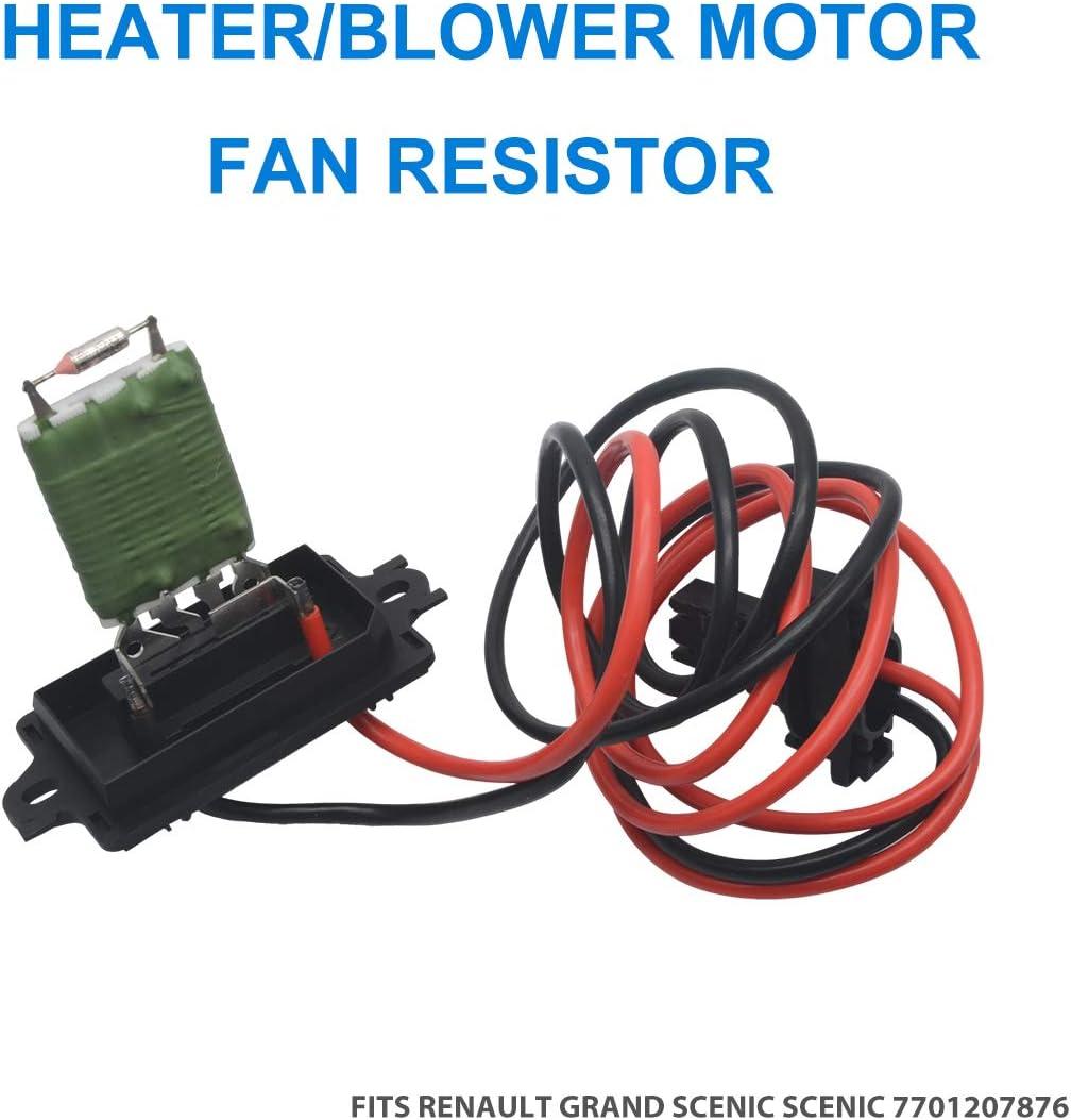 Maso - Resistencia para ventilador de motor calefactor/soplador para Renault Megane Scenic/Grande MK2 7701207876 ...