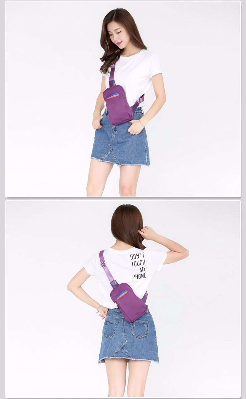 BMKWSG Shoulder Backpack Outdoor Sports Crossbody Sling Chest Bag with Casual Lightweight Style for Men and Women Violet