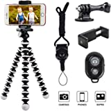Phone Tripod, Linkcool Octopus Tripod with Wireless Remote, Phone Holder Mount Use as iPhone Tripod, Cell Phone Tripod, GoPro Tripod, Camera Tripod, Travel Tripod,Tabletop Tripod for iPhone