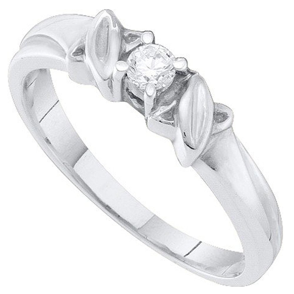 Dazzlingrock Collection Diamond Promise Ring, White Gold, Size 7 by Dazzlingrock Collection
