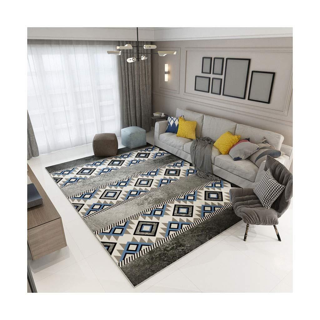 @プチコット 滑り止めのカーペットの装飾リビングルーム長方形のモダンなミニマリストの幾何学的なカーペットの寝室のベッドサイドの毛布 モダンエリアラグ (Color : A, Size : 200CM*300CM) B07SHPPT8V A 200CM*300CM