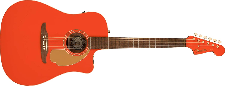 Fender Edición Limitada Redondo Player Fiesta Rojo, Hardware Oro
